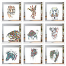 Mixed pack of Wild Animal Greeting cards x 9