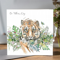 Tiger Fathers Day Greeting Card