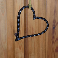 Hanging Heart Decoration................Wrought Iron (Forged Steel) UK Free Post