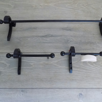 Bathroom Set of 3...................................Wrought Iron (Forged Steel)