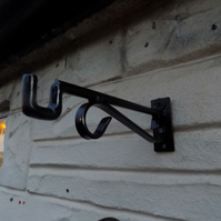 Wrought Iron (Forged Steel) Hanging Basket Bracket..........Hand Crafted