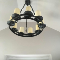 Hand Crafted Candle Chandelier.......................Wrought Iron (Forged Steel)