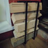 Hand Made Log Holder................................. Wrought Iron (Forge Steel)