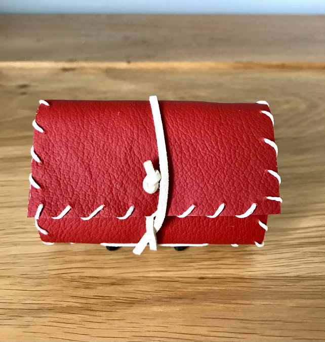 Miniature Red Handmade Leather notebook