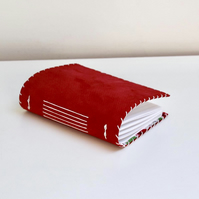 A6 Red Suede notebook