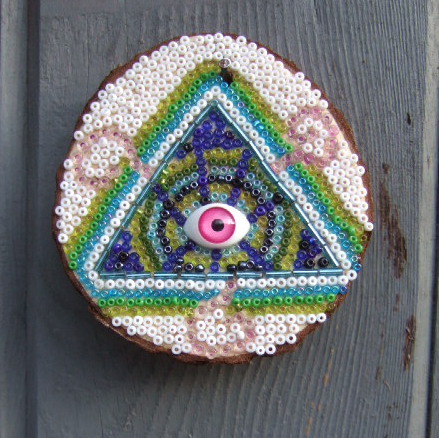 Beaded All Seeing Eye Plaque No. 5