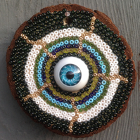 Beaded All Seeing Eye Plaque No. 3