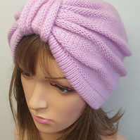 Handmade knitted women turban hat