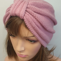 Knit women turban hat