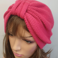 Handmade winter turban hat