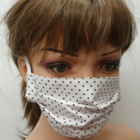 Women dotted face mask reusable washable face covering