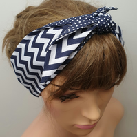 self tie women reversible headband.