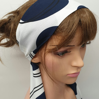Women tie back summer head scarf