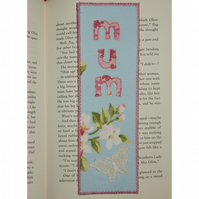 Bookmark Mum with flowers and butterfly