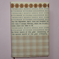 Diary fabric covered Months or Calendar