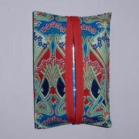 Pocket tissue holders - Liberty print red Iolanthe