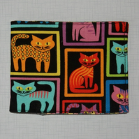 Card wallet colourful cats