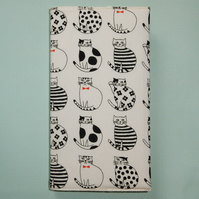 Black and white cats slim line diary