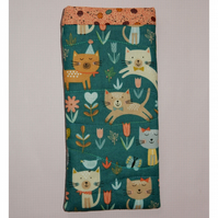 Glasses case - Cats and flowers