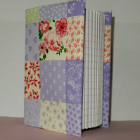 Covered notebook - Lilac patchwork