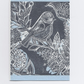 Bird Linocut Print Greetings Card- Blue Tit Notecard