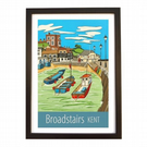 Broadstairs Kent travel poster print by Susie West