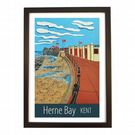 Herne Bay Kent travel poster print by Susie West