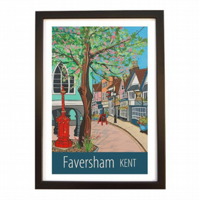 Faversham Kent travel poster print by Susie West