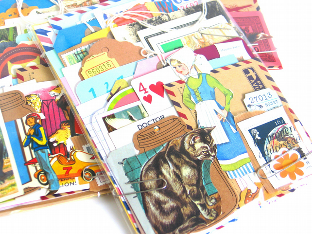 50pc Vintage and New Paper Ephemera Pack for Scrapbooking, Junk Journals etc