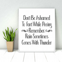 Bathroom quote print, Funny bathroom wall sign, Bathroom wall decor