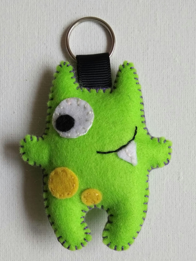 Little Monster Felt Stuffie Key-ring