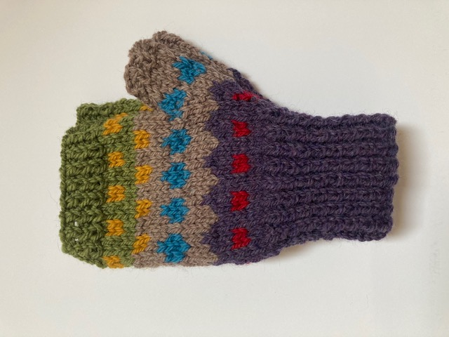100% Wool fingerless gloves