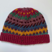 70%Acrylic 30%Wool handknitted hat