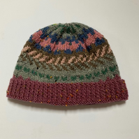 70% Acrylic 30% Wool handknitted hat