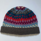 Wool and Alpaca hand knitted  hat