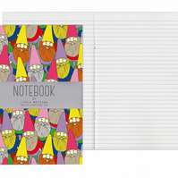 Lined Pages A5 Notebook - Mister Gnome