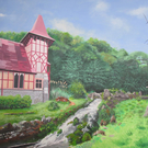 Rickford Chapel Burrington, Giclee print of original acrylic painting
