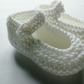 Hand knitted  baby shoes 0-6 months