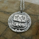 Viking Ship Coin Pendant