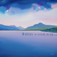 Loch Lomond ( looking north) limited edition giclee mounted print  Free pp UK