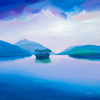 X Large Loch Lomond Haze   Limited edition giclee print    ( Free Postage )