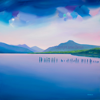 Loch Lomond ( from Lomond Shores)  X Large giclee print  Free PP ( UK)