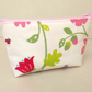 Make up bag in white with birds and flowers