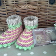 Baby Girl's Colourful Booties 0-6months size
