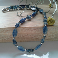 Beautiful Kyanite Silver Plated Necklace