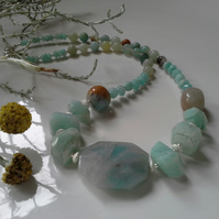 254ct Russian Amazonite Sterling Silver Necklace