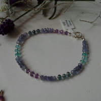 17ct Multi Gemstone Sterling Silver Bracelet