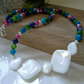 Mother of Pearl Necklace Silver Plated