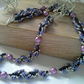Shell Pearl & Seed Bead Necklace Silver Plated