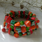 Mother of Pearl & Coral Wrap Bangle Free size